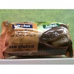 Galletas maría bañadas con chocolate negro Noglut