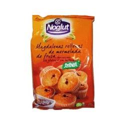 Magdalenas rellenas de crema de cacao Noglut