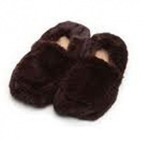 Zapatillas Bota Beige Microondas Furry Warmers