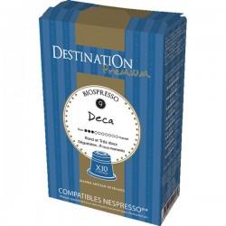 Capsulas café BIO 10x - DESCAFEINADO - Destination