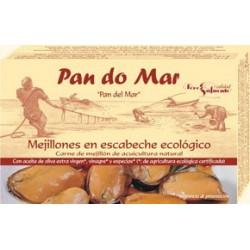 Mejillones ecológicos en escabeche ecológico 115 gr, Pan do Mar