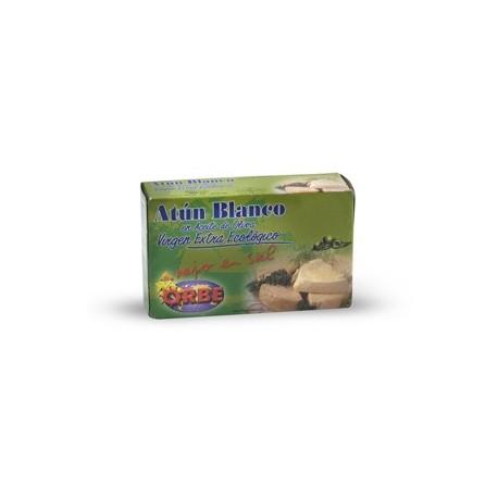 Atún blanco en aceite de oliva 110 gr, Orbe